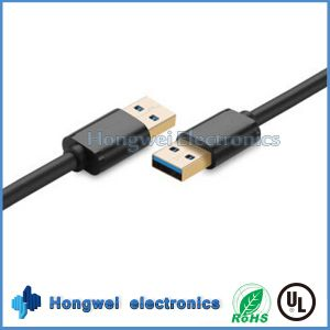 High Speed Double USB 3.0 Male to Male Adapter USB Cable Types pictures & photos