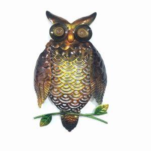 Black Metal Owl Garden Wall Craft with Color Stone Eye pictures & photos