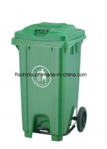 100% HDPE Material of 80L Waste Bin with Pedal (EN840) pictures & photos