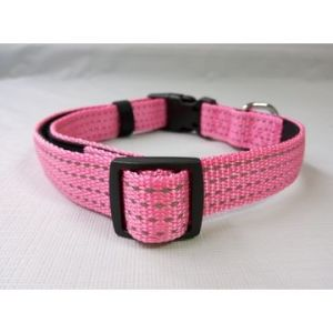 Nylon Dog Collar with Reflective Thread