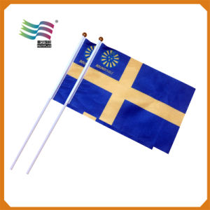 Custom 14*21cm Polyester Hand Flag for Campaign Election pictures & photos