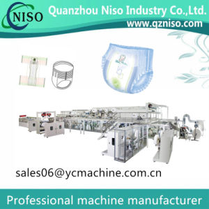 Disposable Ultra Fit Baby Nappy Machine Baby Diaper Machine for T Shape Pampers pictures & photos