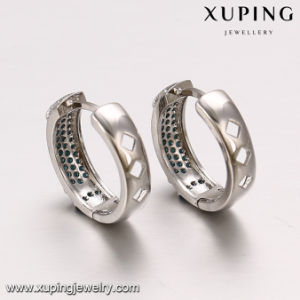 93376 Hot Sale Rhodium Plated Rhinestone Hoop Earring pictures & photos