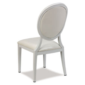 Round Back Middle East Aluminium White PU Leather Party Chairs pictures & photos