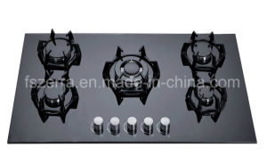 Tempered Glass 5 Burners Built-in Gas Stove Gas Cooker Jzg95006 pictures & photos