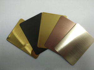 No. 8 Mirror Gold Color Stainless Steel Sheet for Building Material pictures & photos