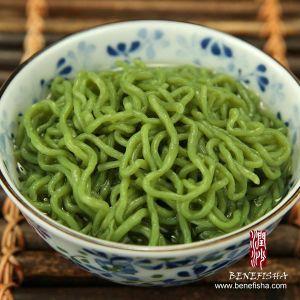 Shirataki /Konjac/Konnyaku Noodles-Spaghetti (Spinach Flavour) pictures & photos