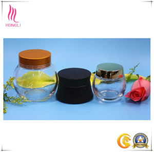 Sale 100g Glass Bottle for Facial Mask with Aluminum Cap pictures & photos
