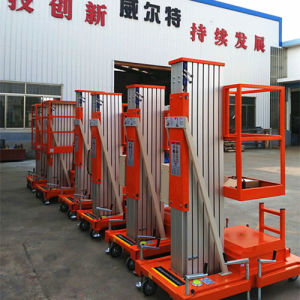 10m Aluminium Alloy Single Mast Aerial Work Lift pictures & photos