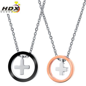 Couples Jewelry Fashion Stainless Steel Round Cross Pendant pictures & photos