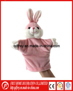 Red Rabbit Plush Hand Puppet with CE Certification