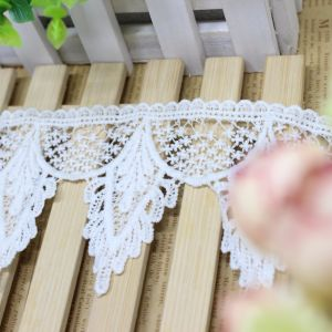 Factory Stock Wholesale 8.5cm Width Embroidery Nylon Lace Polyester Embroidery Trimming Fancy Lace for Garments Accessory & Home Textiles & Curtains pictures & photos