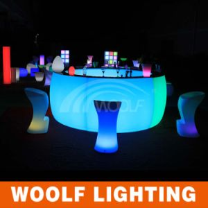 LED Round Bar Counters Table/LED Glow Bar Counter pictures & photos