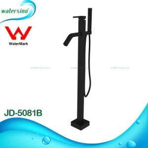 Floor Standing Basin Mixer Matte Black Bathtub Faucets pictures & photos