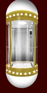 Modern Type Sightseeing Elevator with Small Machine Room pictures & photos