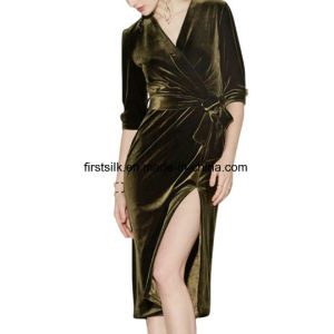 Silk Velvet Dress pictures & photos