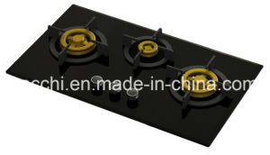 Supreme Three Brass Burner Gas Hob (8mm Glass) pictures & photos