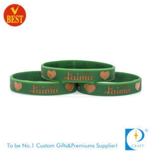 Custom Top Sales Printed Silicon Wristband Bracelet pictures & photos