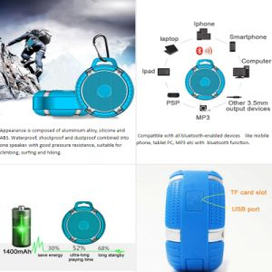Waterproof Shockproof and Dustproof Combined Suitable for Climbing Portable Bluetooth Speaker pictures & photos