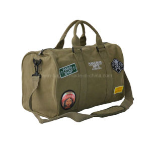 Cotton Canvas Made Classic Men′s Weekender Travel Barrel Bag pictures & photos