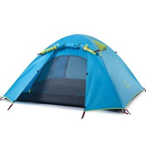 Double Layer 2-4 Person 3 Season Aluminum Rod Camping Tent pictures & photos