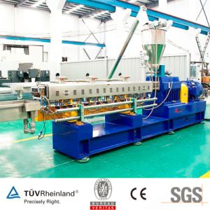 Plastic Granule/Pellet Twin Screw Extruder Machine for Color Fiber General Plastic Masterbatch pictures & photos