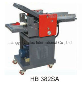 Best Selling Hot Products Black Paper Folder Machine Hb 382SA pictures & photos