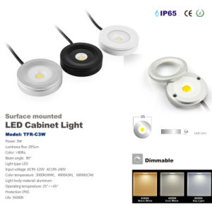 3 Watt COB Dimmable LED Cabinet Lighting 80ra 280lm LED Downlight pictures & photos
