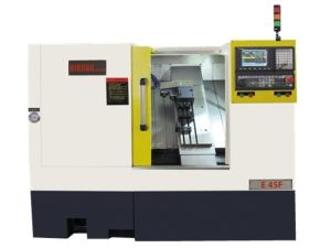 Turret Lathe Machine, CNC Metal Lathe, Lathe Tool Turret Mini CNC Lathe Machine E45f pictures & photos