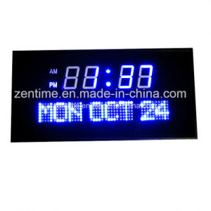LED Digital Wall Clock for Home Decoration and Outdoor pictures & photos