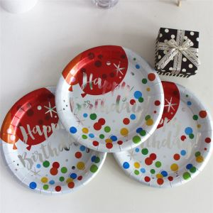 "Foiling Gold Paper Plate 7"" 9"" for Birthday Party pictures & photos"