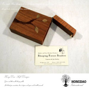 Hongdao Custom Wooden Business Card Storage Box Wholesale_C pictures & photos
