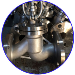 API Class 150 Cast Stainless Steel CF8 Globe Flanged Valve pictures & photos