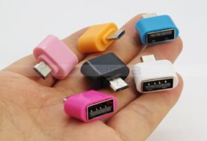 Colorful V8 5pin Male Micro to Female Type-C Adapter Cable for Mobile Phone pictures & photos