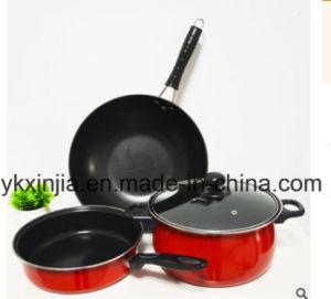 Kitchenware 4PCS Carbon Steel Non-Stick Cookware Set pictures & photos