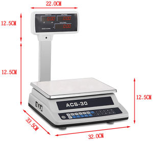Double Side Display with Pole Electronic Platform Price Computing Scale pictures & photos