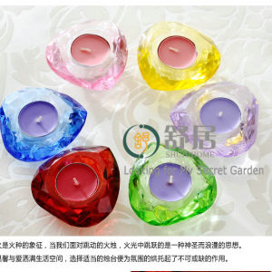 Heart Shape Multi Color Crystal Candle Holder for Wedding pictures & photos