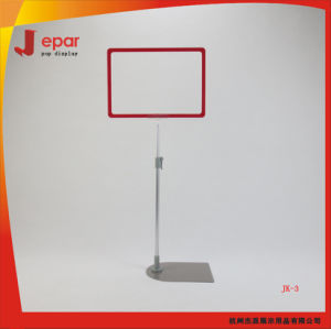 Adjustable Supermarket Aluminum Telescopic A4 Advertising Sign Stand pictures & photos