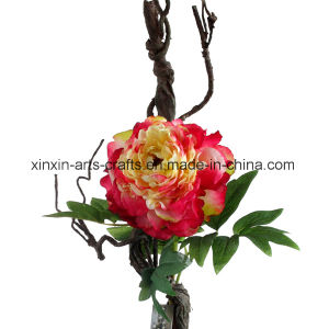 Factory Wholesale Fake Peony Artificial Flowers with Decorative Cirrus pictures & photos