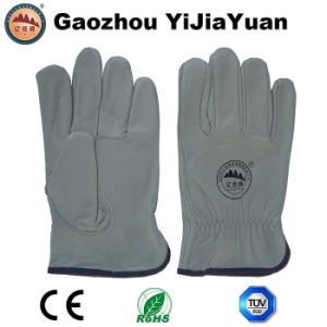 Leather Safety Working Industrial Drivers Gloves pictures & photos