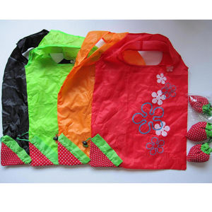 Recycled Flower Polyester Folding Gift Shopping Bag pictures & photos