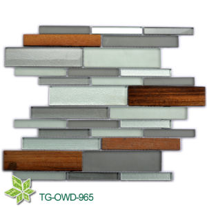 Glass Mixed Wood Mosaic (TG-OWD-965) pictures & photos