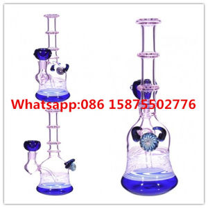 Bamboo Tube Purple Color Inliner Glass Waterpipe pictures & photos
