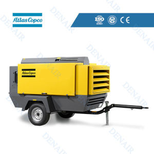 Atlas Copco Industrial Portable Diesel Air Compressor for Sand Blasting pictures & photos