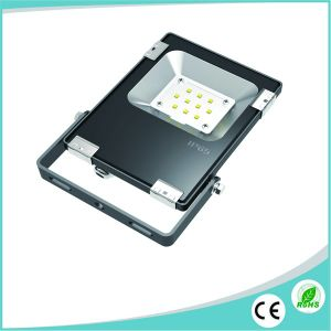 Ultra Slim Outdoor 10W SMD LED Floodlight with Philips LED pictures & photos