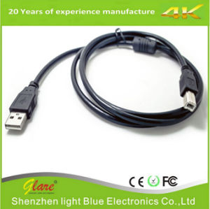 Black Color Right Angle Printer USB Cable pictures & photos