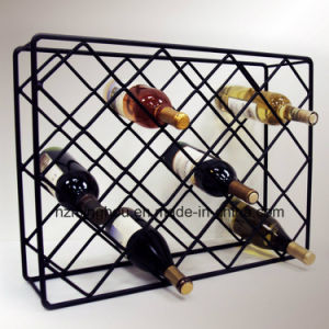 Wire Rectangle Diamond Wine Rack Vintage Metal Wine Rack pictures & photos