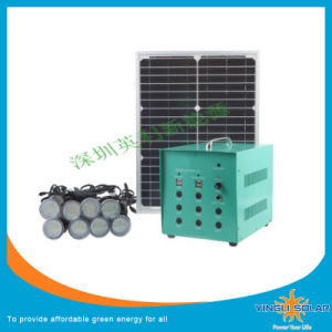 40W Small Solar System with Soalr Panel and LED Lights pictures & photos