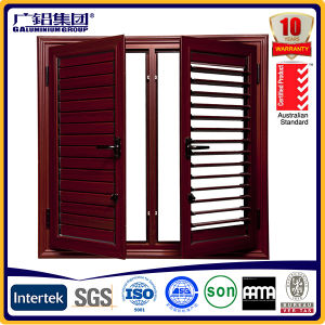 Aluminium and Wood Casement Awning Window with safety Glass and Screen pictures & photos