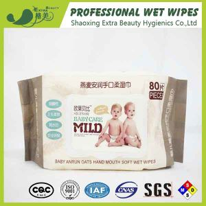 Alcohol Free Skincare Baby Wipes OEM Wet Tissues pictures & photos